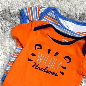 Orange & Blue Onesie Wildly Handsome Onesie 3-6